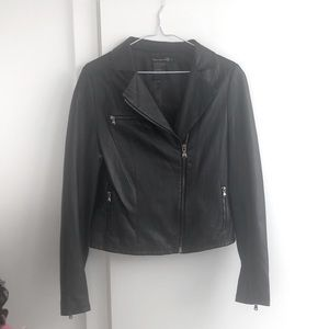 PAIGE Black Label Black Leather Jacket,M